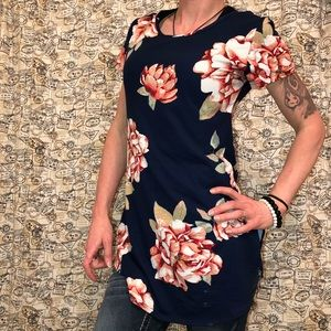 Charlotte Russe Flowery Stretch Top